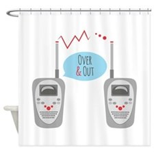 Over & Out Shower Curtain