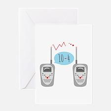 10-4 Walkie Talkies Greeting Cards
