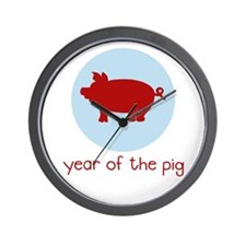 Year of the Pig - Wall Clock