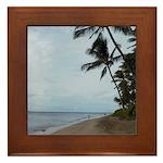 Maui Beach Palms Framed Tile