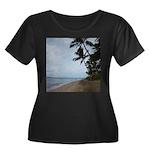 Maui Beach Palms Plus Size T-Shirt