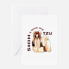 LOVE MY SHIH TZU Greeting Cards