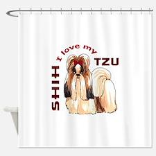 LOVE MY SHIH TZU Shower Curtain