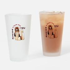 LOVE MY SHIH TZU Drinking Glass
