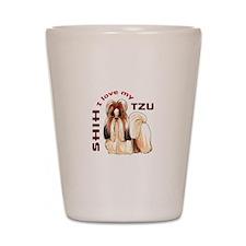 LOVE MY SHIH TZU Shot Glass