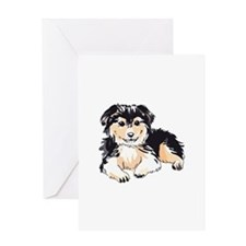 AUSTALIAN SHEPHERD PUPPY Greeting Cards