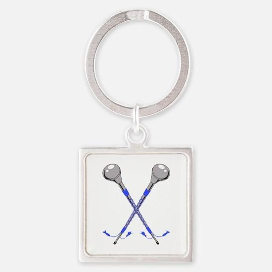 DRUM MAJOR BATONS CROSSED Keychains