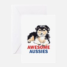 AWESOME AUSIIES Greeting Cards