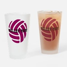 Volley-Mom Drinking Glass