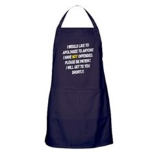 Patience Is A Virtue Apron (dark)