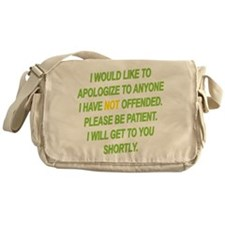 Patience Is A Virtue Messenger Bag
