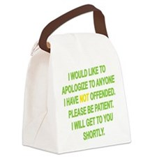 Patience Is A Virtue Canvas Lunch Bag