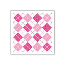 Pink Argyle Sticker
