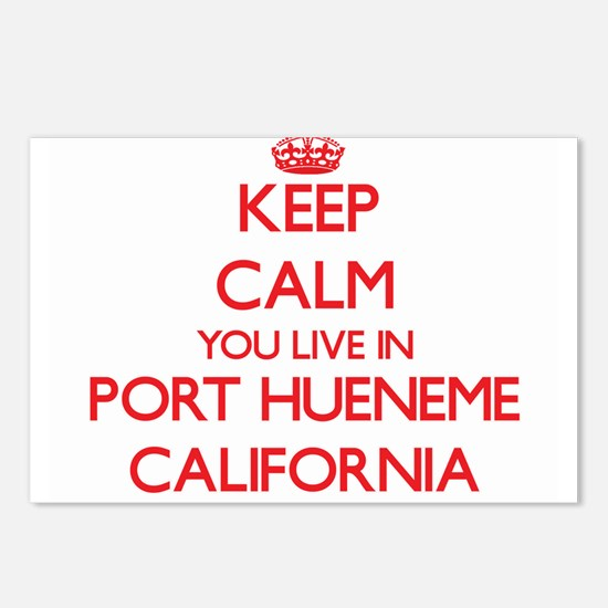 Keep calm you live in Por Postcards (Package of 8)