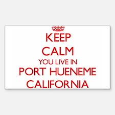 Keep calm you live in Port Hueneme Califor Decal