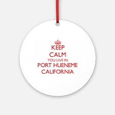 Keep calm you live in Port Huenem Ornament (Round)