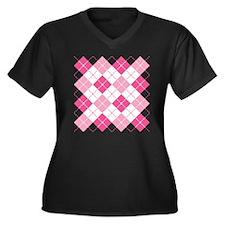 Pink Argyle Plus Size T-Shirt