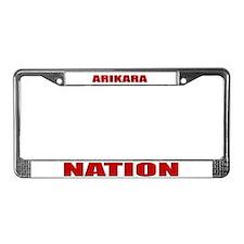 Arikara Nation License Plate Frame