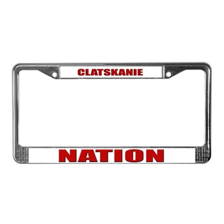 Clatskanie Nation License Plate Frame