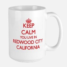 Keep calm you live in Redwood City California Mugs