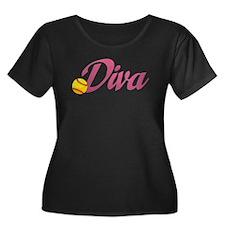 Fastpitch Diva Plus Size T-Shirt