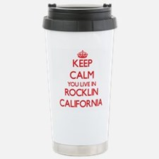 Keep calm you live in R Stainless Steel Travel Mug