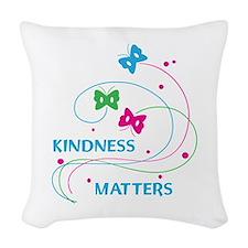 KINDNESS MATTERS Woven Throw Pillow