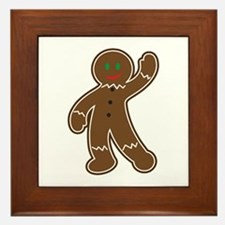 GINGERBREAD APPLIQUE Framed Tile