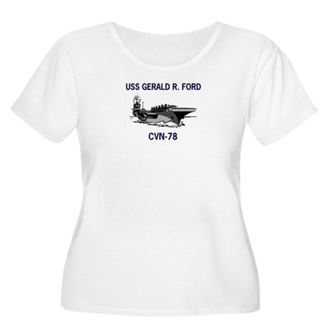 USS GERALD R. FORD Women's Plus Size Scoop Neck T-