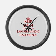 Keep calm you live in San Fernand Large Wall Clock