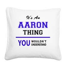 Aaron Square Canvas Pillow