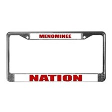 Menominee Nation License Plate Frame