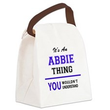 Funny Abby Canvas Lunch Bag