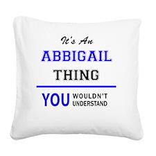 Cute Abbigail Square Canvas Pillow