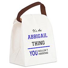 Cute Abbigail Canvas Lunch Bag
