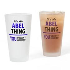Funny Abel Drinking Glass