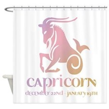 Capricorn Zodiac Shower Curtain Design 2