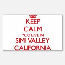 Keep calm you live in Simi Valley Californ Decal
