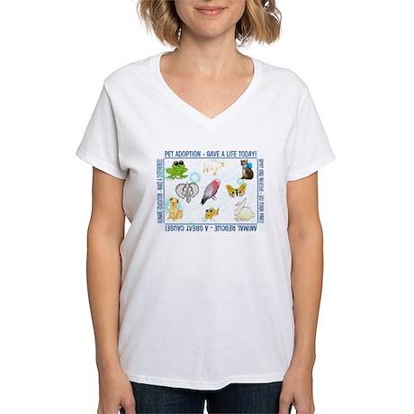 Animal Welfare Slogans V Neck Women 39 S V Neck T Shirt