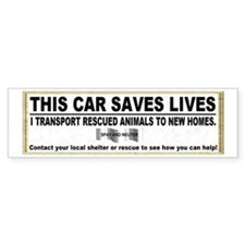 """This car saves lives"" Car Sticker"