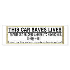 """This car saves lives"" Car Sticker"