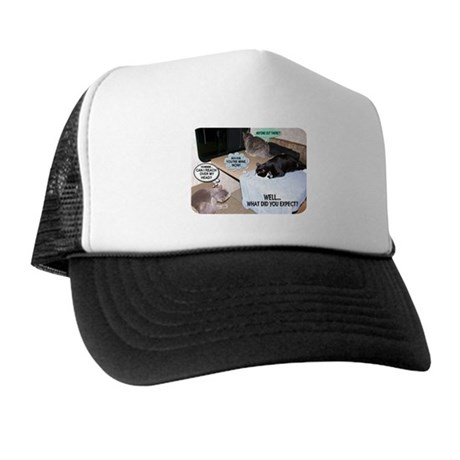 """Cat Thoughts"" Trucker Hat"