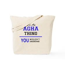 Agha Tote Bag