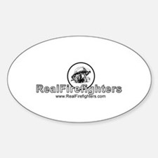 Real Firefighters Logo Oval Decal