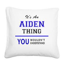Cute Aiden Square Canvas Pillow
