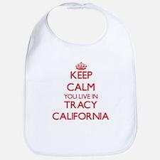 Keep calm you live in Tracy California Bib