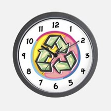 Color Swirl Recycle Sign Wall Clock
