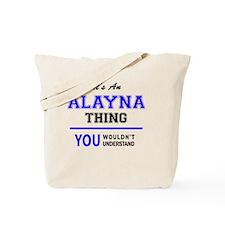 Cute Alayna Tote Bag