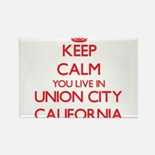 Keep calm you live in Union City Californi Magnets