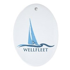 Wellfleet - Cape Cod Massachusetts Ornament (oval)